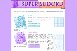 The new Super Sudoku website