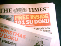 Our Su Doku in The Times