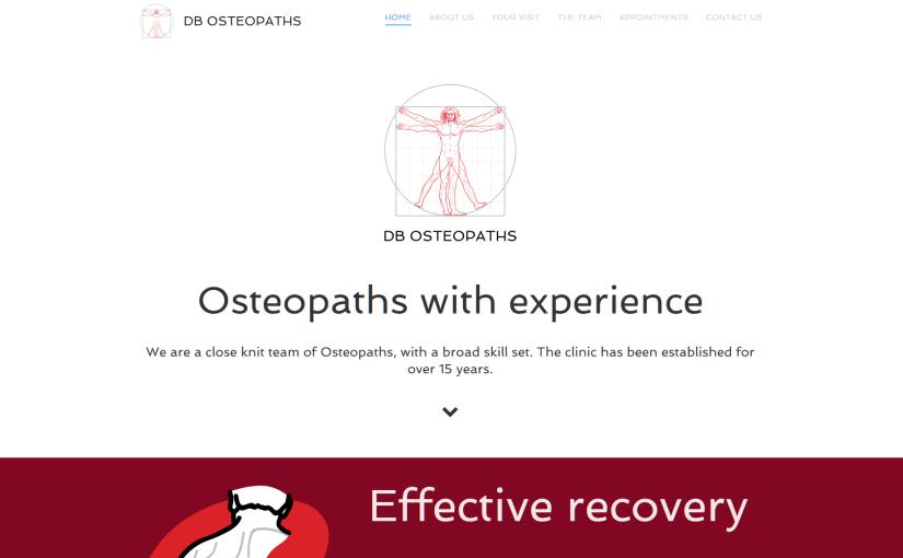DB Osteopaths Website