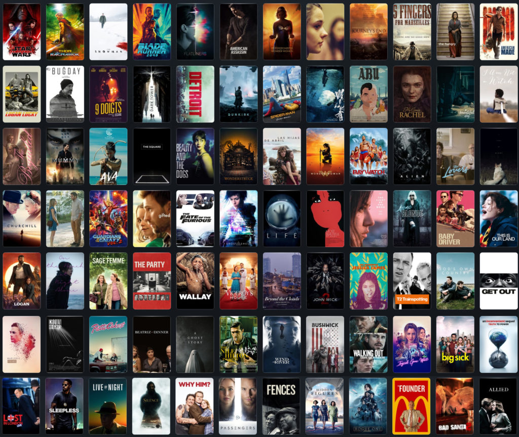 Film Posters over 2017