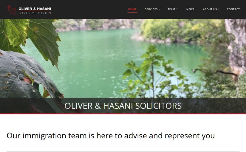 Oliver & Hasani Solicitors Website