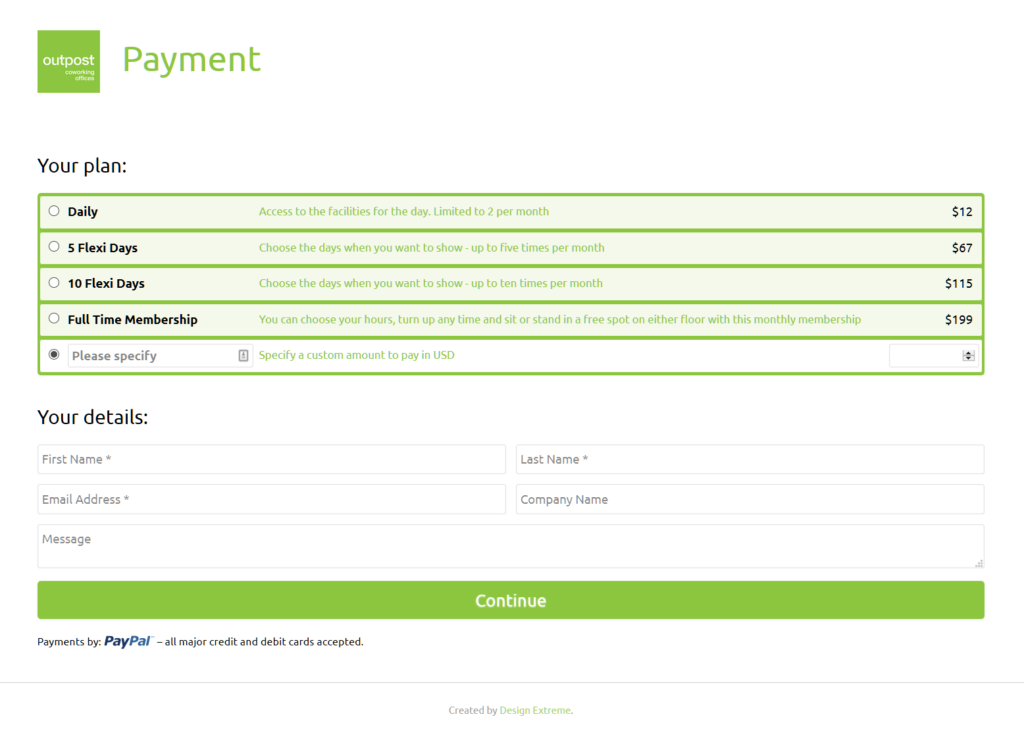 Outpost PayPal Payment Gateway