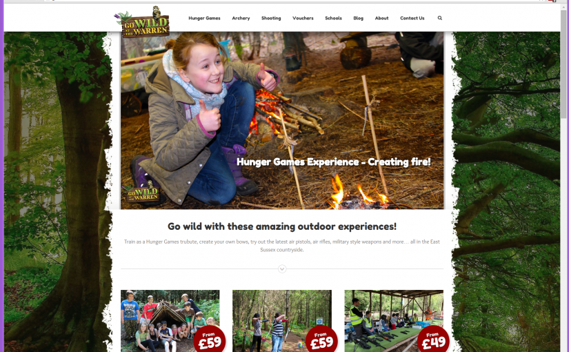New outdoor activities WordPress website goes live!
